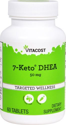 7-Keto DHEA 50 mg - Vitacost - 60 cápsulas
