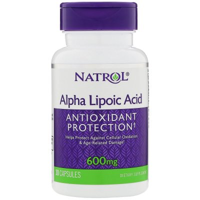 Ácido Alfa Lipóico (Alpha Lipoic Acid)  600 mg -  Natrol - 30 cápsulas