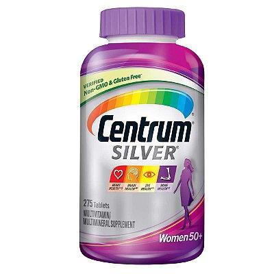 Centrum Silver 50+ WOMEN - 275 tabletes - Ideal para Mulheres com 50 anos ou mais  - FRETE GRÁTIS