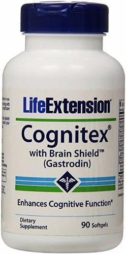 Cognitex com Protetores para cérebro (gastrodin) - Life Extension - 90 Capsulas