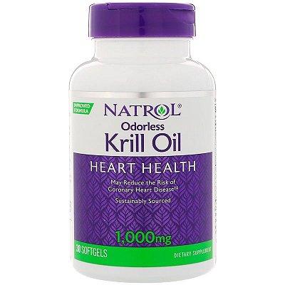 Ômega 3 + Óleo de Krill 1000 mg - Natrol - 30 softgels