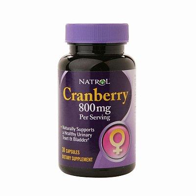 Cranberry 800 mg -  Natrol - 30 Cápsulas VAL 10.19