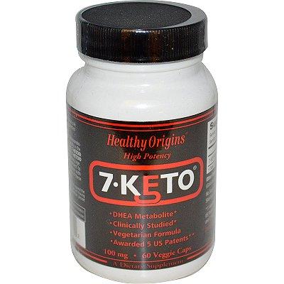 7-Keto DHEA 100 mg - Healthy Origins - 60 cápsulas val: 11/22