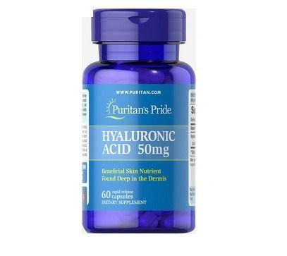Ácido Hialuronico 50 mg - Puritan´s Pride - 60 cápsulas