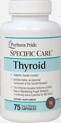 Specific Care Thyroid - (Suplemento para Tireóide) - Puritan´s Pride - 75 Cápsulas