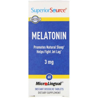 Melatonina 3 mg Microlingual - Superior Source - 60 comprimidos