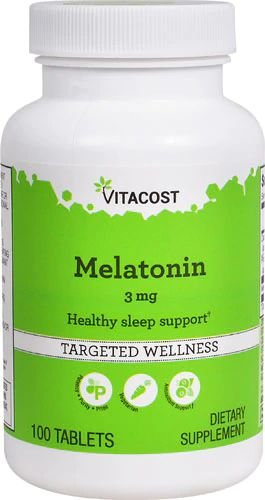 Melatonina 3 mg - Vitacost - 100 Tablets