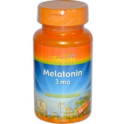 Melatonina 3 mg  Liberação Sustentada - Thompson - 30 comprimidos