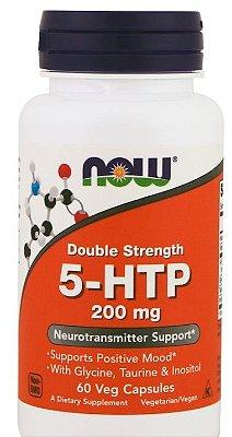 5-HTP 200 mg - Now Foods - 60 cápsulas de Liberação Rápida