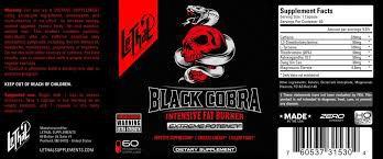 Black Cobra - Termogênico Importado - LETHAL SUPPLEMENTS - 60 Cápsulas-VAL 05.2019