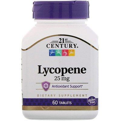 Lycopene (Licopeno) 25 mg - 21st Century - 60 Tablets