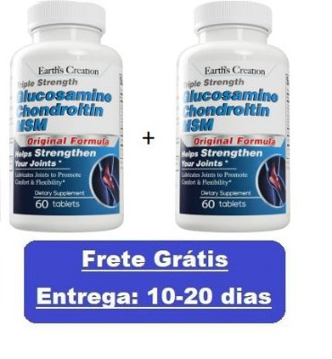 Kit 2 Glucosamina Condroitina e MSM - Earth Creation - Total 120 tablets