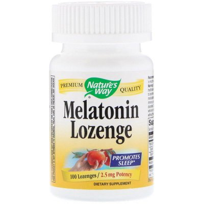 Melatonina 2,5 mg - Nature´s Way - 100 Comprimidos Sublinguais