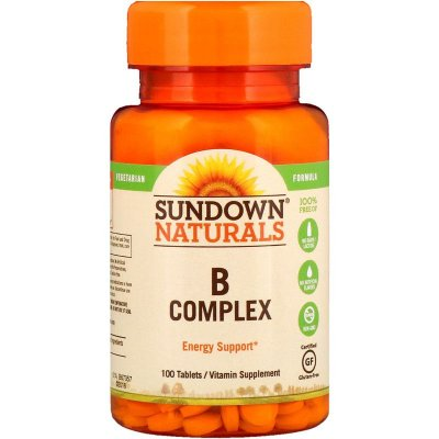 Vitaminas do Complexo B - Sundown Naturals - 100 COMPR