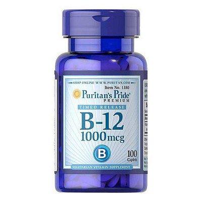 Vitamina B-12 1000 mcg Liberação Gradual - Puritan´s pride - 100 Tablets