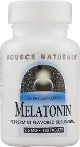 Melatonina 2,5 mg sabor hortelã - Source Naturals - 120 comprimidos (hormônio do sono)