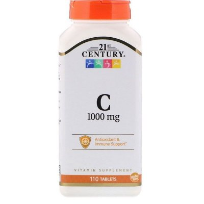 Vitamina C-1000 mg 21st century - 110 tablets