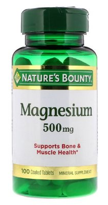 Magnésio 500 mg alta potência - Nature´s Bounty - 100 tablets