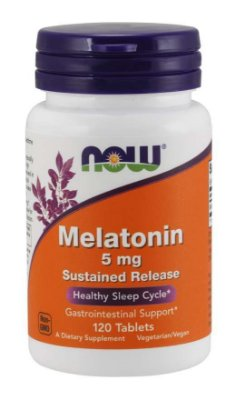 Melatonina 5 mg - Liberação Sustentada - Now Foods - 120 Tablets