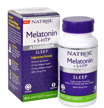 Melatonina advanced 6 mg + 5 htp - Natrol - 60 tablets de liberação rápida e gradual