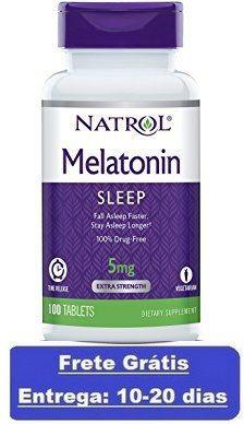 Melatonina 5 mg Liberação Gradual -  Natrol - 100 comprimidos (envio Internacional)