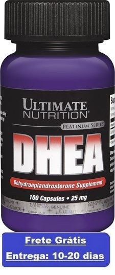 DHEA 25 mg  -  Ultimate Nutrition - 100 cápsulas (Envio Internacional)