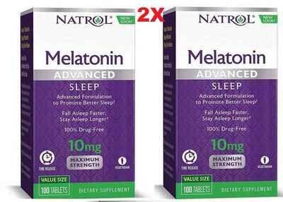 Melatonina 10 mg Liberação Rápida e Gradual -  Natrol - 200 comprimidos