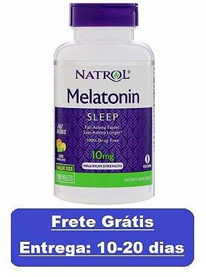 Melatonina 10 mg Fast Dissolve sublingual sabor CITRUS - Natrol - 100 comprimidos (Envio Internacional)