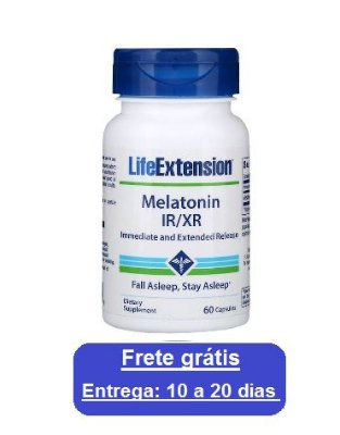 Melatonina IR/XR - Life Extension - 60 cápsulas (Envio Internacional)