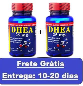 Kit 2 unidades DHEA 25 mg - Earth´s Creation - Total 120 cápsulas (Envio Internacional)