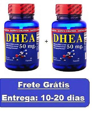 Kit 2 unidades DHEA 50 mg - Earth´s Creation - Total 120 cápsulas (Envio Internacional)