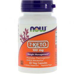 7-Keto DHEA 100 mg - Now Foods - 60 cápsulas - Frete Grátis (Envio Internacional)