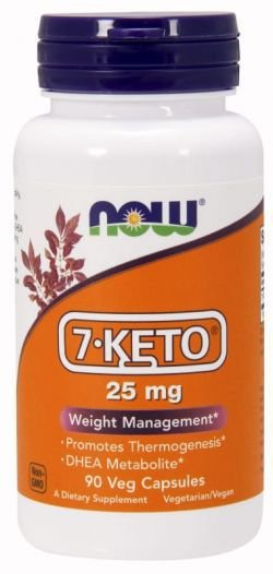 7-Keto DHEA 25 mg - Now Foods - 90 cápsulas (Envio Internacional)