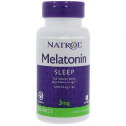 Melatonina 3 mg Liberação Gradual -  Natrol - 100 comprimidos - hormonio do sono (Envio Internacional)