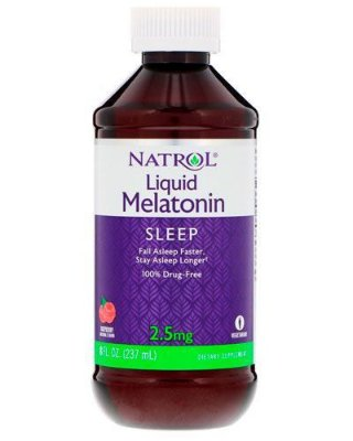 Melatonina liquida 2,5mg - Natrol - 237 ml (Envio Internacional)