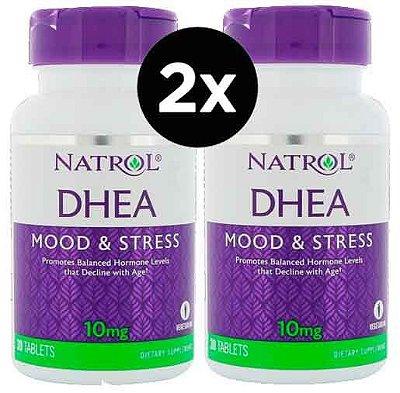 Kit 2 x Dhea 10 mg - Natrol - Total 60 Tablets - Frete Grátis