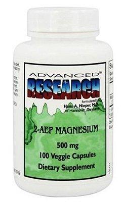 Magnésio 2-AEP 500 mg – Fosfoetanolamina - Advanced Research – 100 cápsulas (Envio Internacional)