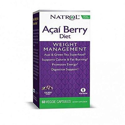 Açai Berry Diet - Natrol - 60 Cápsulas vegetarianas-VAL 08.19
