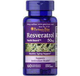 Resveratrol 50 mg - Puritan´s Pride - 60 softgels