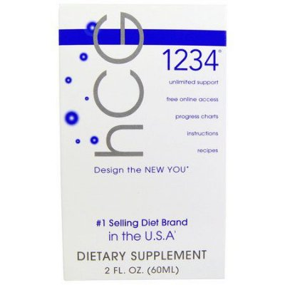 Diet Drops 1234 Sublingual (HCG) - Creative Bioscience - 60 ML