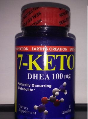 7-Keto DHEA 100 mg - Earth´s Creation - 60 cápsulas