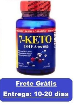 7-Keto DHEA 100 mg - Earth´s Creation - 60 cápsulas (Envio Internacional)