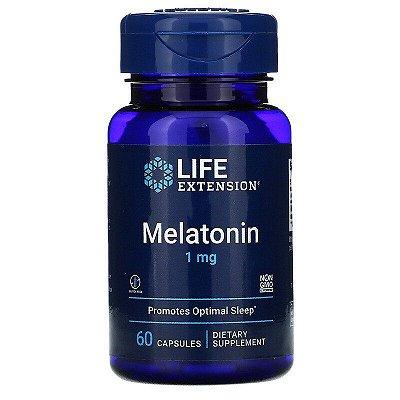 Life Extension Melatonina 1 mg  60 Cápsulas (hormônio do sono)