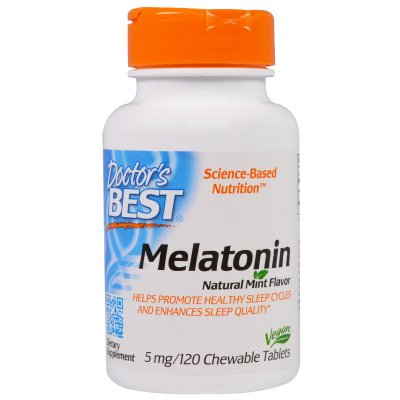 Comprar Melatonina 5 mg  -  Doctor´s Best - Sublingual - 120 comprimidos (hormônio do sono)