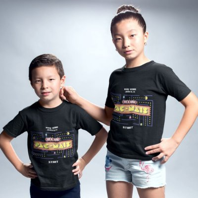 Camiseta Infantil - Vá e Não Pac-Mais
