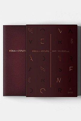 Bíblia de Estudo - Nova Versão Transformadora - Vinho (NVT)