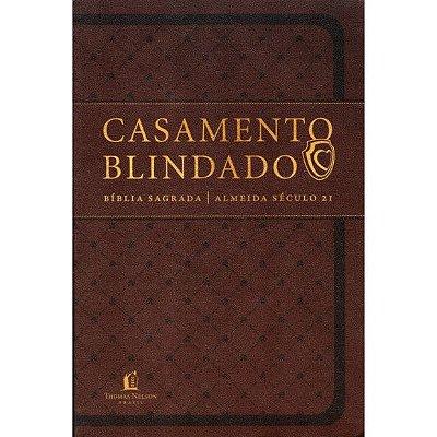 Bíblia Sagrada - Casamento Blindado - Capa Semi Luxo - Marrom (Almeida Séc. 21)