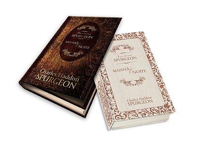 Livro - Dia a Dia com Spurgeon - Manhã e Noite - Capa Dura em Linho (Edição Luxo Caixa de Presente) - Marrom - C.H Spurgeon