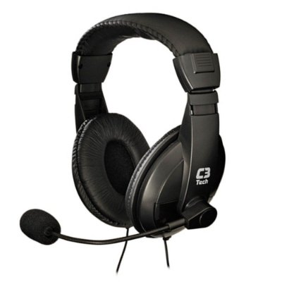 HEADSET C3 TECH VOICER CONFORT C MICROFONE PRETO - CT662863