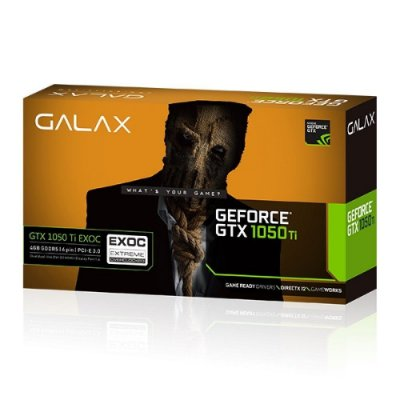 PLACA DE VÍDEO GEFORCE GALAX GTX 1050 TI EXOC 4GB GDDR5 PCI-EXP 50IQH8DVN6EC